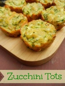 Zucchini Tots - kids love them!