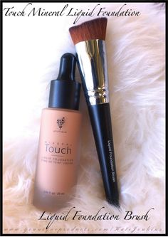 Touch Mineral Liquid Foundation & Liquid Foundation Brush  The Perfect Duo!
