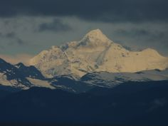 Mt St. Elias, the second highest peak in the US is located in Wrangell National park Alaska, this is on the ferry heading to the southeast