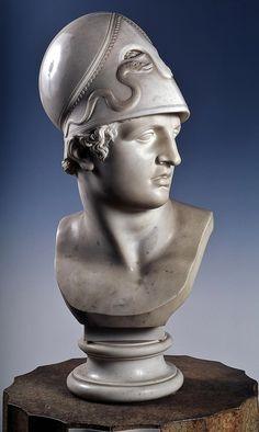 Bust of Hector. 1816.Antonio Canova. Italian 1757-1822. marble.http://hadrian6.tumblr.com