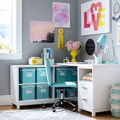 Rowan Drawer Corner Desk #pbteen