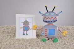 Kuscheltiere - Von der Kinderzeichnung zum Kuscheltier - ein Designerstück von Ella-und-Paul bei DaWanda