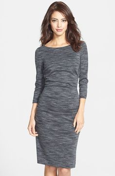 Nicole Miller 'Christina' Ponte Sheath Dress available at #Nordstrom