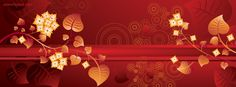 facebook cover Fall Red Orange Leafs CoverLayout.com