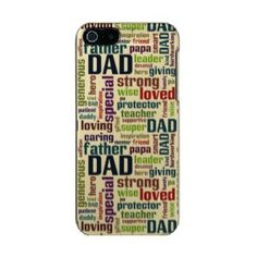 """Dad Word Cloud Text Father's Day Typography Incipio Feather® Shine iPhone 5 Case (<em data-recalc-dims=""""1"""">$52.95</em>)"""