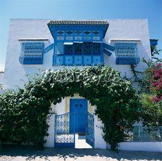 Tunisian House Sidi Bou Said, in TUNISIA