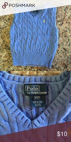 Ralph Lauren baby blue sweater vest sz 3t EUC Ralph Lauren baby blue sweater vest sz 3t EUC Ralph Lauren Shirts & Tops Sweaters