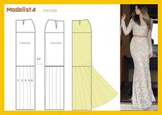 yo elijo coser: Patrón falda para vestido de fiesta
