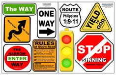 Christian Street Sign Decals, $21.99 (http://www.create-a-mural.com/products/christian-street-sign-decals.html)