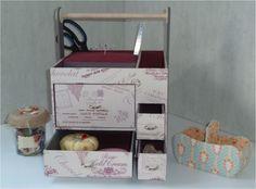 Cartonnage : Tuto de la desserte à couture ChaDaNel