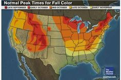 October is a prime time to view the changing leaves in Iowa.