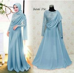 Dress brokat modern 65 New ideas Dress Brokat Muslim, Dress Brokat Modern, Dress Pesta, Muslim Dress, Hijab Evening Dress, Hijab Dress Party, Hijab Style Dress, Hijabi Gowns, Women's Fashion Dresses