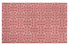One Kings Lane - Labor Day Blowout Sale - 5'x8' Archive Flat-Weave Rug, Persimmon