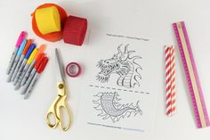 Chinese Dragon Puppet   TEMPLATE _ www.madewithHAPPY.com