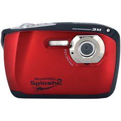 Bell+howell 16.0 Megapixel Wp16 Splash2 Hd Waterproof Digital Camera (red)