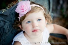 Pink Rose Flower with Lace Headband by Sammy Banany's by iguania03,
