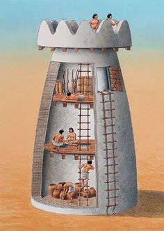 """An early Egyptian watch tower, c. 3100 BC"", Brian Delf"
