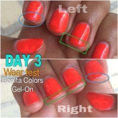 Bonita Colors Gel On wear test