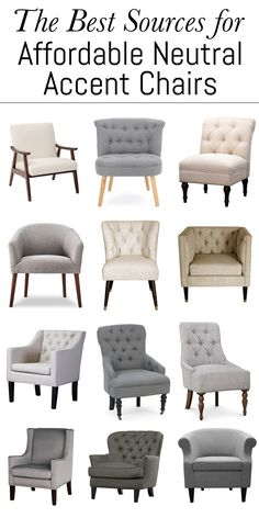 The Best Sources for Affordable Neutral Accent Chairs – Erin Spain – Home Interior Design Ideas Living Room Sofa Design, Accent Chairs For Living Room, Living Room Designs, Home Decor Furniture, Living Room Furniture, Furniture Design, Modern Furniture, Futuristic Furniture, Country Furniture