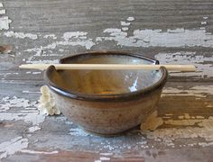 Rice Bowl Noodle Bowl Udon Asian Japanese by BRobertsonPottery