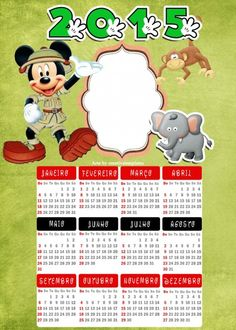 calendario Mickey safari mod 2