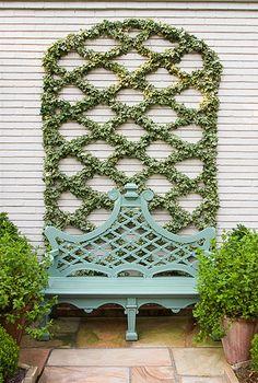 Alex Smith Garden Design, Ltd. Boxwood Garden, Garden Trellis, Garden Gates, Garden Urns, Formal Garden Design, English Garden Design, Formal Gardens, Outdoor Gardens, Porches