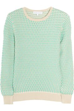 oval waffle knit cotton sweater / jonathan saunders