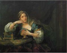 Sigismunda Mourning over the Heart of Guiscardo- William Hogarth, English painter