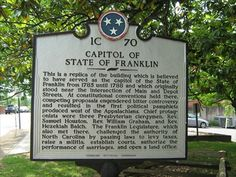 Capitol of State of Franklin - 1C 70 - Greeneville, TN - Tennessee ...