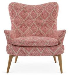Sonja Chair, Pink/White Aztec
