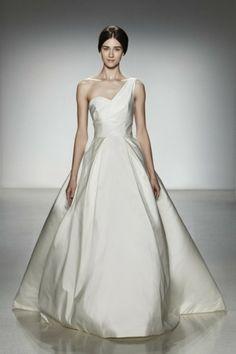 Tendências #Noivas 2014 - Vestidos de uma alsa #Amsale #casarcomgosto
