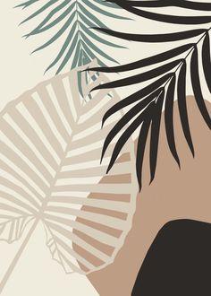 Cute Patterns Wallpaper, Aesthetic Pastel Wallpaper, Aesthetic Wallpapers, Fall Wallpaper, Iphone Background Wallpaper, Palm Leaf Wallpaper, Minimalist Wallpaper, Minimalist Art, Abstract Line Art