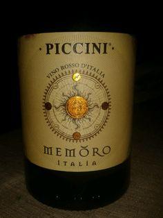 MEMORO  Vino sin DO de Italia Bodegas Piccini Primitivo 40%, 30% Montepulciano, Nero D'Avola 20% y 10% Merlot del veneto 14º