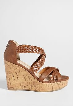 bailee braided strap wedge (original price, $39) available at #Maurices