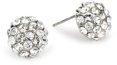 1928 Bridal Amore Classic Button Earrings - 1928, Amore, Bridal, Button, Classic, Earrings. http://designerjewelrygalleria.com/1928-jewelry/1928-earrings/1928-bridal-amore-classic-button-earrings/