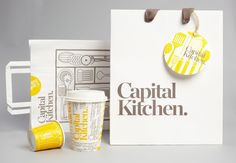 Another lovely identity from Cornwell based in Australia for homeware store Capital Kitchen