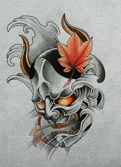 般若 刺青 タトゥー デザイン tattoo design