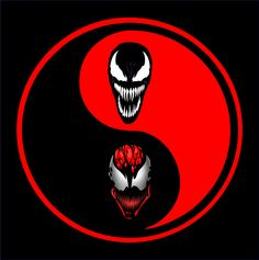 Carnage and Venom Yin Yang T-Shirt