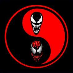 Carnage and Venom Yin Yang T-Shirt