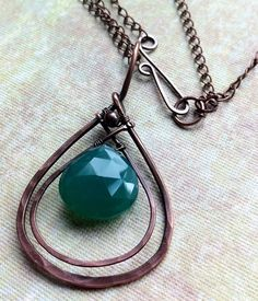 Green onyx pendant with chain | Flickr - Photo Sharing!