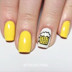 Beer nail art tutorial #NationalBeerDay