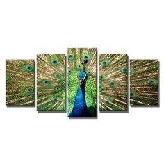 Original Peacock HD Canvas Print on Canvas Wall Art Decor Home Office (Framed) #WiecoArt #ArtDeco