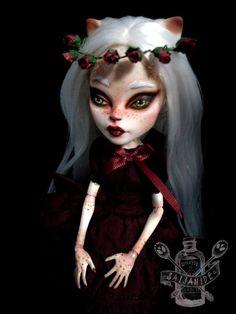 custom monster high doll repaint ooak cat girl reroot by Saijanide