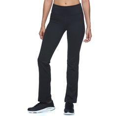 Women's FILA Sport® Slim & Straight Workout Pants, Size: Xs Short, Black