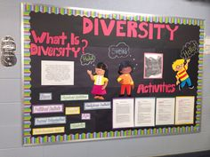 Diversity board me and Emily did at placement