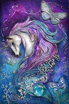 Unicorn Journal by Mandarin Duck Unicorn And Fairies, Unicorn Fantasy, Unicorns And Mermaids, Magical Unicorn, Fantasy Art, Unicorn Books, Unicorn Art, Rainbow Unicorn, Unicorn Pictures