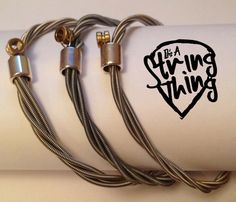 ItsAStringThingWales: Unique hand made jewellery from recycled guitar strings