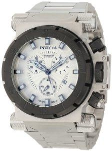 Invicta Men's 10027BLB Coalition Force Chronograph Silver Dial Watch