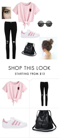 """""""Untitled #23"""" by horvathingrid231 on Polyvore featuring WithChic, Boohoo and adidas Originals"""
