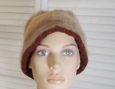 Cocoa Brown Tan Oatmeal Bucket Hat Fluffy Soft Helmet Floppy Short No Brim Brimmed Cloche Style Hat w Brim Stingy Jockey Style Knit Crochet by LandofBridget on Etsy